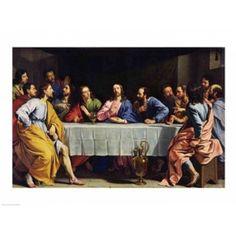 The Last Supper 1648 Canvas Art - Philippe De Champaigne (24 x 18)