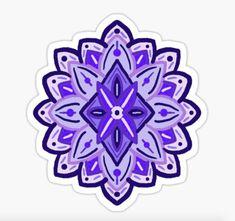 Blue Peonies, Purple Flowers, Lilac, Lavender, Red Bubble Stickers, Artist Aesthetic, All Things Purple, Flower Mandala, Trippy