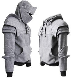 Knight hoodie ,hoodie,gray, Duncan Armored Knight Hoodie(100% Handmade) Made To Order.