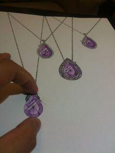 Ian Kwan, just beautiful hand! Jewellery Sketches, Jewelry Drawing, Jewelry Sketch, Gouache, Diamond Jewelry, Jewelry Rings, Beauty Illustration, Beautiful Hands, Amethyst