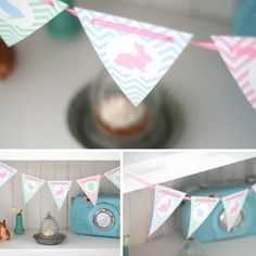 easter bunting {free printable}  - DIY Wimpelkette zu Ostern