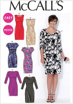 615bad4cdd1d Miss Petite Dresses McCalls Sewing Pattern No. 7085. Plus Size Sewing  Patterns