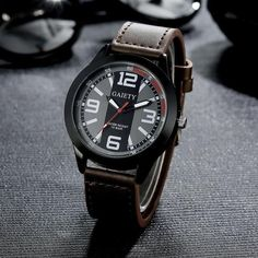 2017 Luxury Brand Watch Men Military Watches Men's Quartz-watch PU Leather Hour Clock Male Wrist Watch Relogio Masculino #53