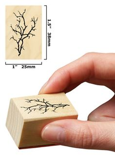 Cherry Blossoms Branch by Rubber Stamp Tapestry