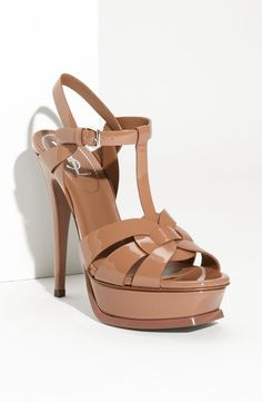 I have these in dark nude and LOVE them. I just got the YSL clutch in Camel so I would like to find the tributes in Camel aslo. yves saint laurent ysl camel patent tribute platform pumps