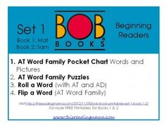 printables, bobs, book printabl, free bob, read, bob books, homeschool, educ, kid