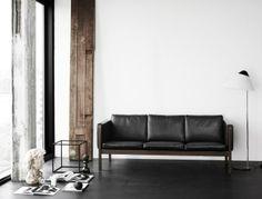 Sofá de couro ideal para escritório
