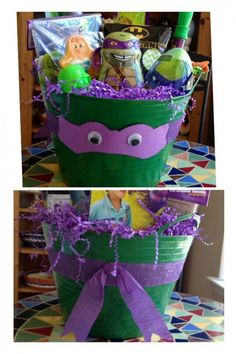 Teenage Mutant Ninja Turtle | Easy DIY Easter Basket Ideas for Kids