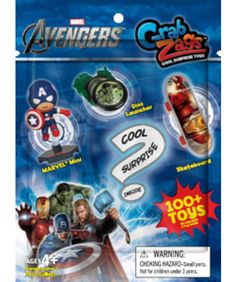 Marvel Avengers Grab Zag Surprise Toy.  Brand new.  SELL PRICE: $2. *kendra*