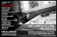 """Giancarlo Alessandrini nel suo studio a Trento per il progetto """"Life in a Sketch"""", in crowdfunding ora su it.ulule.com/lifein-asketch"""