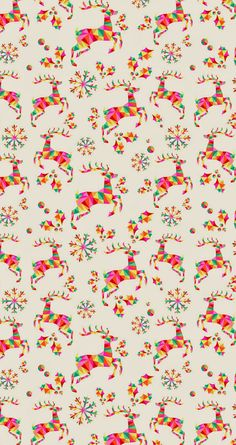 Colorful Geometric Reindeer pattern. Tap image for more iPhone 6 Christmas Pattern Background Wallpapers! Christmas trees wallpaper - @mobile9 | #christmas #winter http://gallery.mobile9.com/topic/?tp=christmas&ii=12864&ty=673