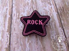 Felt Rock Star Hair Clip Rock Star Feltie by PunkyPunkinCreations, $3.25 Rock Star Hair, Felt Projects, Wool Blend, Hair Clips, Toddler Girl, Hoop, Infant, Hair Accessories, Stars