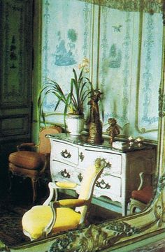 Incredible restored boiserie and French antiques in Switzerland