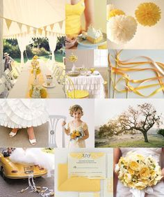Yellow Hues with Ivory  - 12 Perfect Combinations for Fall Wedding Colors - EverAfterGuide