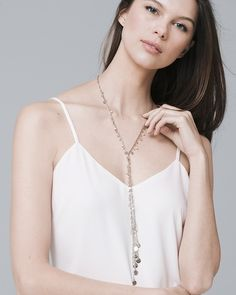 Women's Freshwater Pearl Y-Necklace by White House Black Market