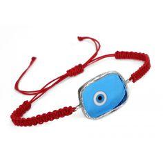 Red String Bracelet Greek Evil Eye, Red String Bracelet, Evil Eye Charm, Eye Protection, Evil Eye Bracelet, Bracelet Designs, Eyes, Sterling Silver, Bracelets