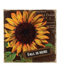 Ohio Wholesale, Inc. Burlap Fall Wall Art | zulily