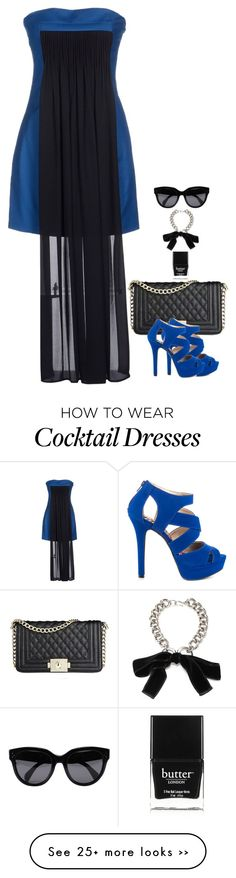 """This could easily spin into a TARDIS outfit """"Cocktail Dress"""" by miki006 on Polyvore"""