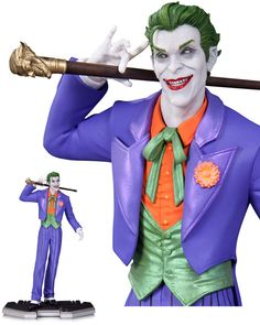 """DC Icons """"The Joker"""" Statue - Limited edition run of 5,200 / mine is number 1581 / Retails at $95 / was on display / still have box / mint condition / very minor scratch on base where statue is installed / barely visible / asking $65 Canadian dollars + shipping Dc Comics Art, Awesome Toys, Cool Toys, Joker, Dc Icons, Batman, Mini, Fictional Characters, Sideshow"""