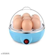 Checkout this latest Jars & Container_500 Product Name: *Useful Egg Boiler* Material : Plastic & Stainless Steel Power Source : Cord Capacity: 7 Power Rating: 350W Unit size( L X B XH ): 16x16x16 cm Power Button : Yes Color: Blue Description : It Has 1 Piece Of Egg Boiler Country of Origin: India Easy Returns Available In Case Of Any Issue   Catalog Rating: ★4.1 (2472)  Catalog Name: Trendy Useful Egg Boilers Vol 13 CatalogID_488847 C104-SC1830 Code: 333-3512018-897