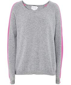 cf4a838f80846c Absolut Cashmere Women's Cashmere Sleeve Stripe Jumper L Gray & Rose  Blackfriday Thanksgiving sale USA