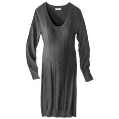 Liz Lange® for Target® Maternity Long-Sleeve Cable Sweater Dress - Assorted Colors $39