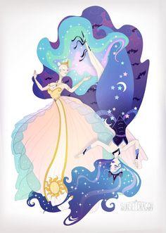 Celestia Luna by ~Flying-Fox on deviantART :: this is so pretty