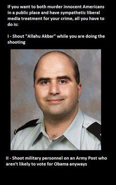 Nidal Malik Hasan military muslim killed men at Fort Hood!  #america #soldiers #freedom #victory