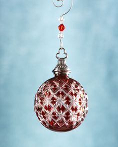 Annual Cased Ball Christmas Ornament By Waterford At Horchow Christmas Ornament Wreath Red Ornaments