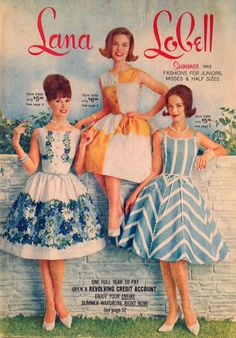 Vintage Lana Lobell Clothing Catalog Summer 1963 79P Great Dresses Swimsuits | eBay