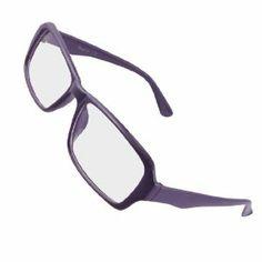 Rosallini Purple Plastic Full Frame Arms Clear Lens Plain Glasses for Women  Men by Rosallini. de713110b3