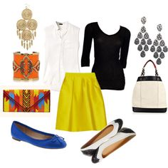 One Skirt, Two ways. Polyvore