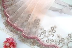 Lace trim embroidered tulle trim embroidered net by raincrazy133, $8.25