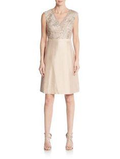 KAY UNGER Embellished A-Line Dress. #kayunger #cloth #
