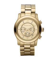 Montre en métal doré, Golden Oversized Runway Watch http://www.vogue.fr/mode/shopping/diaporama/made-in-new-york/11594/image/683639#montre-en-metal-dore-golden-oversized-runway-watch-200-euros