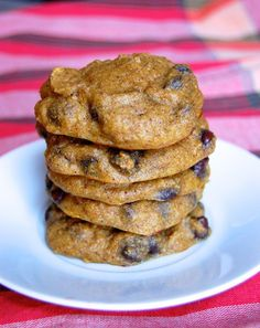 Paleo Chocolate Chip Pumpkin Cake Cookies- I can't get enough of these.
