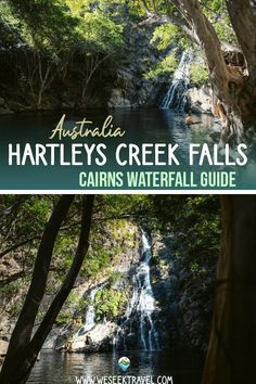 Hartleys Creek Falls is a cascading waterfall located at the end of a gentle walking track near Wangetti, north of Cairns. Cairns, Waterfall, Track, Walking, Australia, Posts, Blog, Messages, Runway
