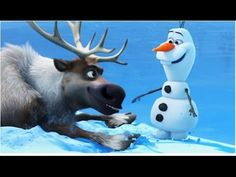 Frozen Fever: Will Olaf or Sven Let it Go on the Frozen Lake - From Disney Frozen - YouTube
