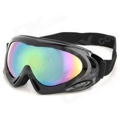 High quality PC lens + black ABS frame - Comfortable sponge inner core folding safety goggles - Adjustable elastic head strap - Protect eyes from small particles and debris flying from under motorized vehicles such as sand and insects. - UV-protection, goggles will stand between your eyes and the harmful sun rays. http://j.mp/1toJMOX