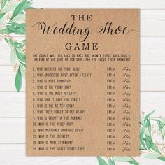 The Wedding Shoe Game Bridal Shower Games Wedding Shower Etsy Bridal Shower Planning, Bridal Shower Party, Bridal Showers, Wedding Planning, Best Bridal Shower Games, Couples Wedding Shower Games, Engagement Party Games, Fun Wedding Games, Wedding Games For Adults