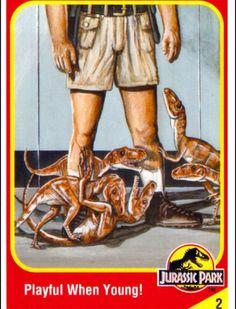 Jurassic Park Trading Cards Jurassic Park Book, Jurassic Park Raptor, Jurassic Park Trilogy, Jurassic World Characters, Dinosaur Art, Prehistoric Creatures, Parking Design, Tyrannosaurus Rex, Animal 2
