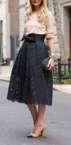 Bow Lace Skirt ♥ L.O.V.E.