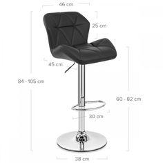 Chaise de Bar Faux Cuir Chrome - Diamond