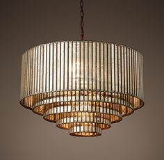 Vitti Mirrored Rectangular Chandelier 60 Quot Lighting