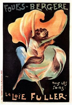 La Loie Fuller Vintage French Poster — MUSEUM  OUTLETS