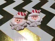 A personal favorite from my Etsy shop https://www.etsy.com/listing/466853563/santa-is-here-christmas-in-july-earrings