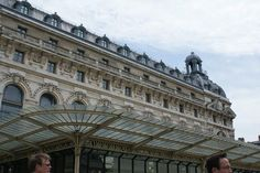 Exterior of the D'Orsay museum, with its Art Deco canopy