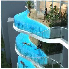 Floating balcony pools in Mumbai