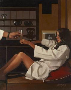 Man, I think that Vermeer's gift for light interiors is the same to Vettriano's touch for dark interiors. Vermeer = the innocent. Vettriano = the sultry.