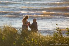 Presque Isle, Michigan North Beach surprise engagement Lake Huron Photographer Paul Retherford, http://www.PaulRetherford.com #engagement #surpriseengagement #engaged #presqueisle #northbeach #paulretherford